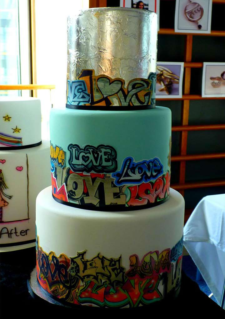 Wedding Cake Designs - Artsy/Graffiti Cake