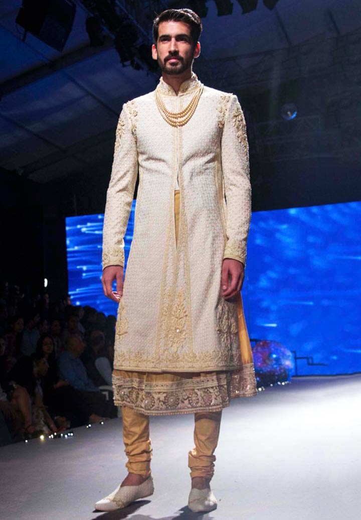 Punjabi Groom Wear - Shwerwani with Stylish Jacket