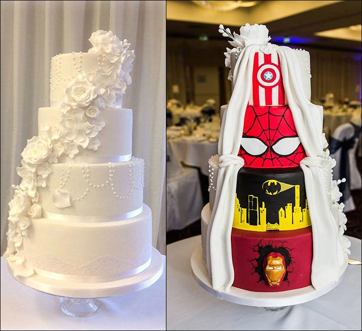 Avengers Themed Wedding Cake