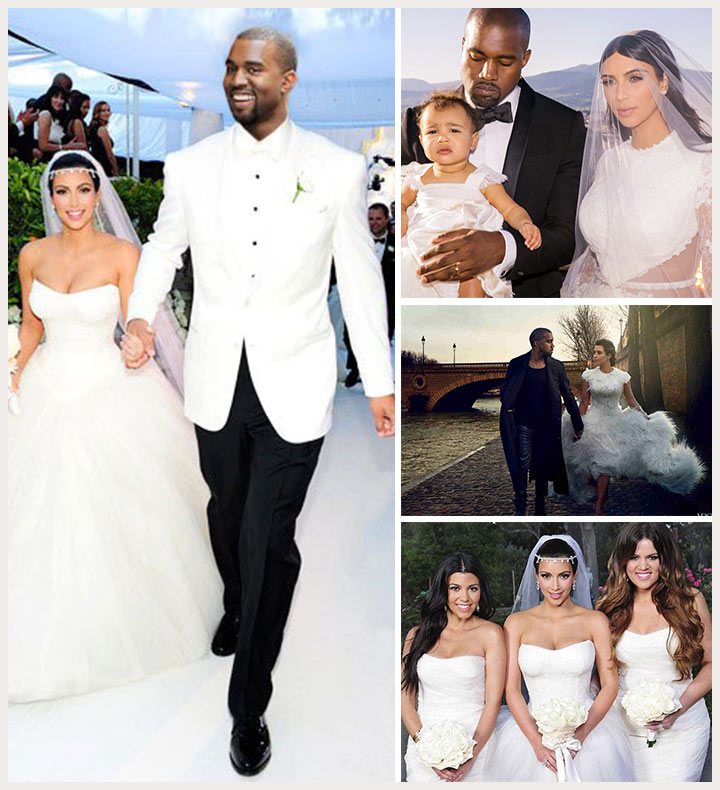 Kim kardashian and kanye west wedding dress