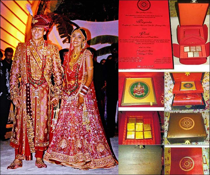 Vivek Oberoi Wedding - Wedding-card