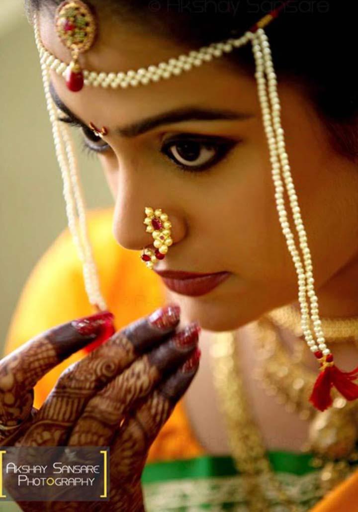 Marathi Bridal Makeup And Hairstyle : Maharashtrian bridal makeup get the perfect look in