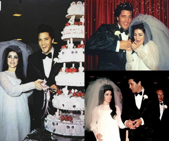 Elvis Presley and Priscilla Beaulieu: Celebrity Wedding Cakes