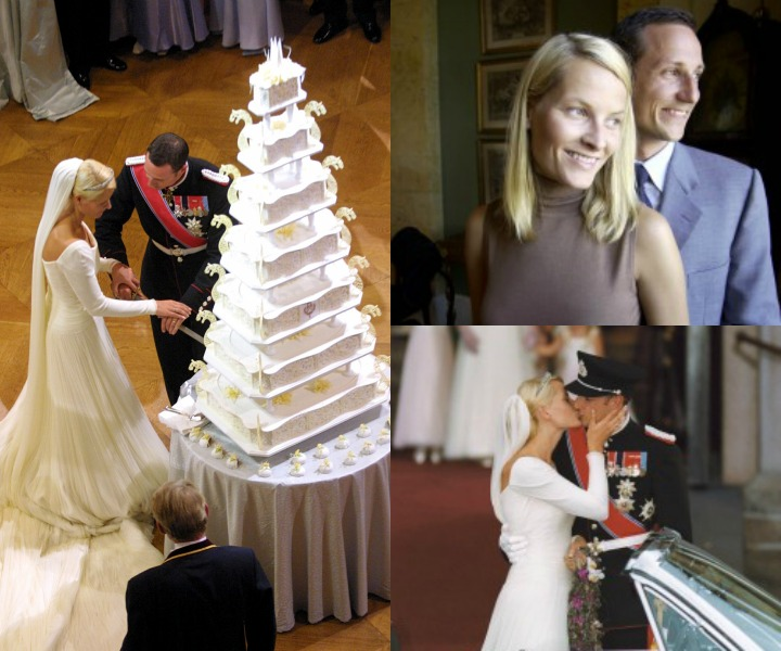 Celebrity Wedding Cake : The Royal Cake Of Prince Haakon and Mette-Marit of Norway