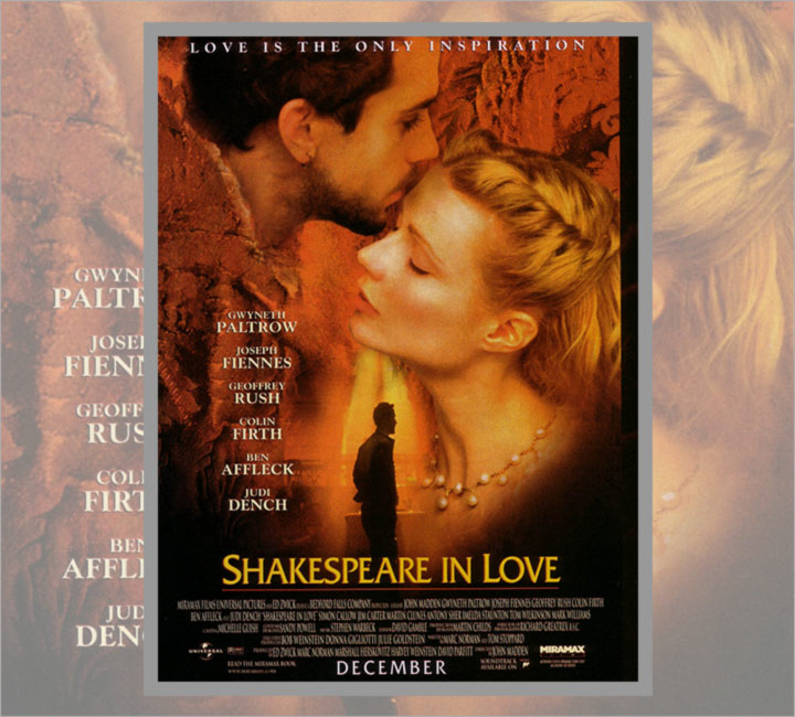 shakespeare in love a film by Shakespeare in love is a comedy, drama, romance film directed by john madden and written by tom stoppard it was released on 8 january 1999 (usa) it stars gwyneth palt.
