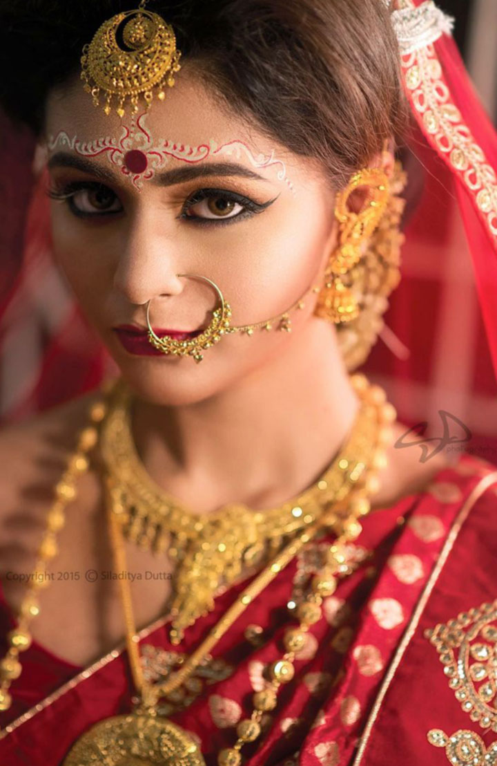 Bengali Bridal Makeup Forehead Chandan Designs