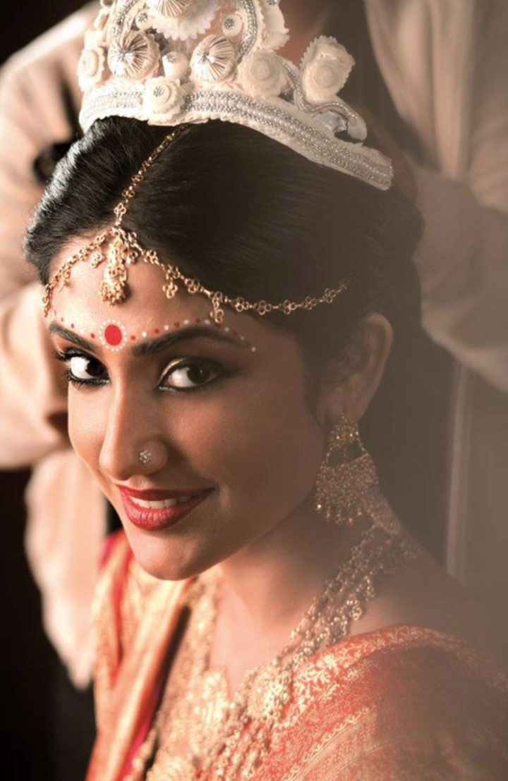Bengali Bridal Makeup Alpana Designs