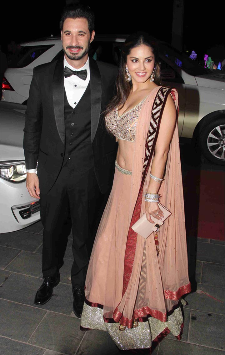 Sunny Leone Marriage To Daniel Weber - Sunny And Daniel At Tulsi Kumar's Wedding Reception