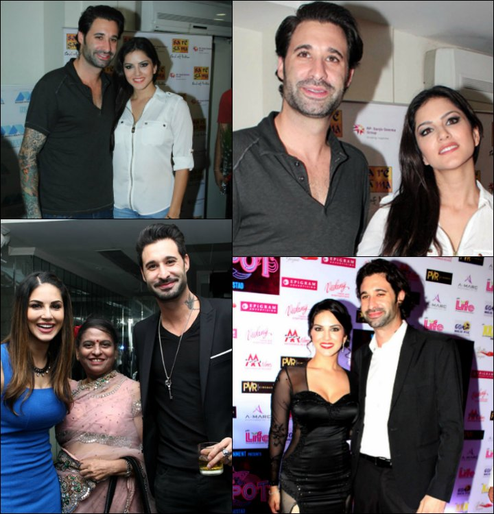 Sunny Leone Marriage To Daniel Weber - Sunny And Daniel At Promos In Town