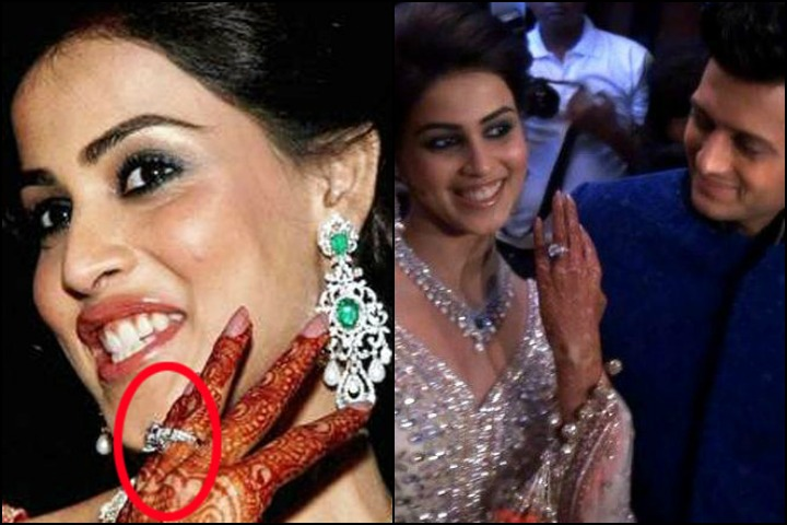 Celebrity-engagment-ring-Genelia D'Souza