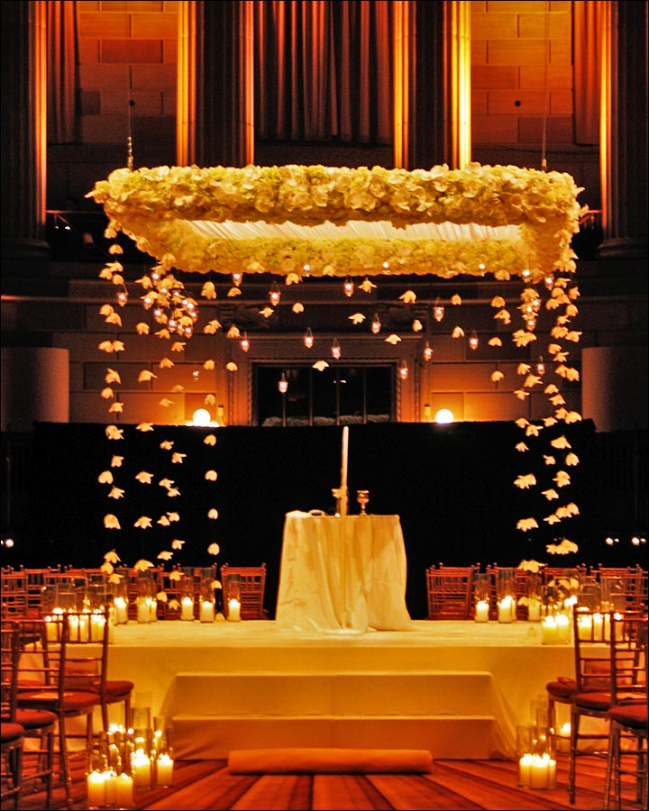 Christian Wedding Stage Decorations Floating Flowers