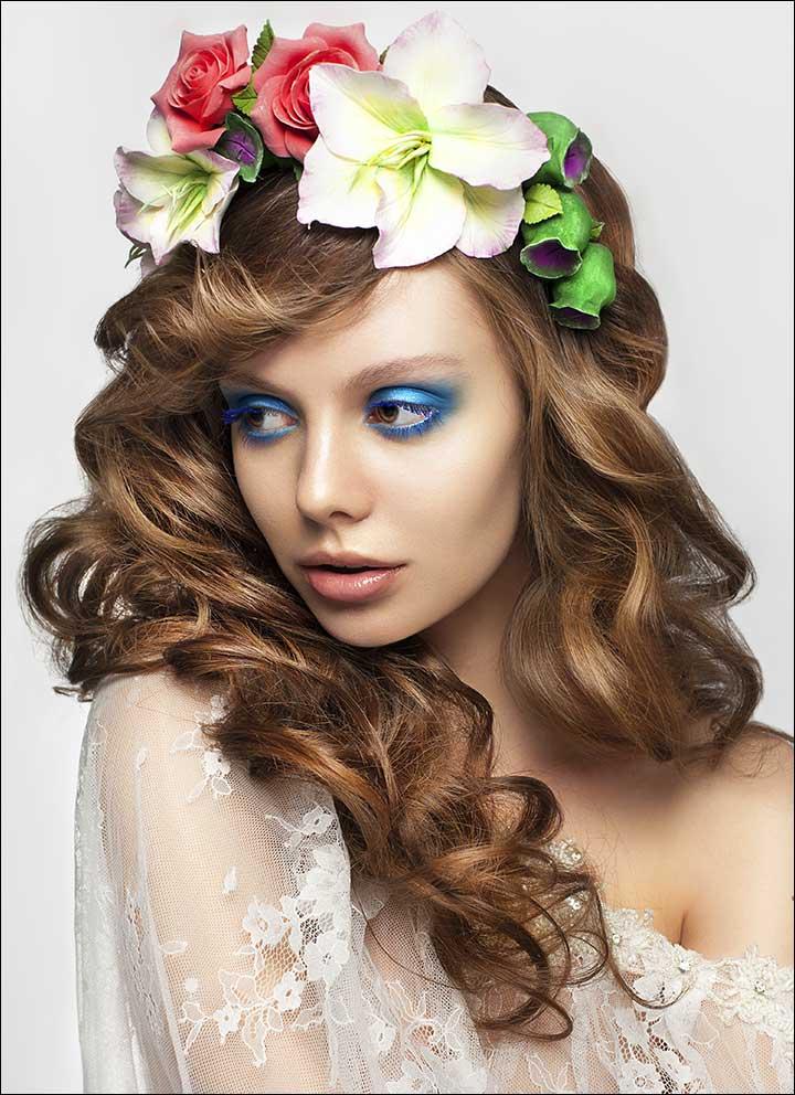 Curly-Hair-bridal-hair-style