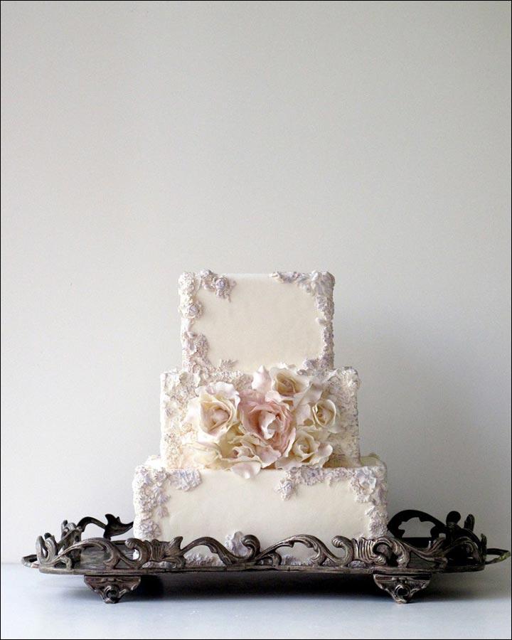 Modern Heart Shaped Wedding Cakes