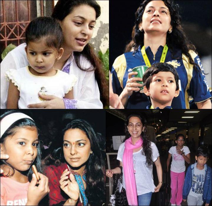 Juhi Chawla With Her KIds Jhanvi And Arjun