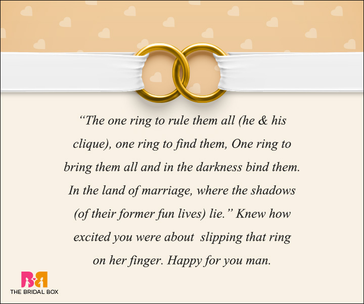 Engagement Wishes - Lady Of The Ring