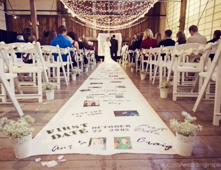 10 awesome wedding aisle decorations to choose from lets run the story on aisle decoration junglespirit Image collections