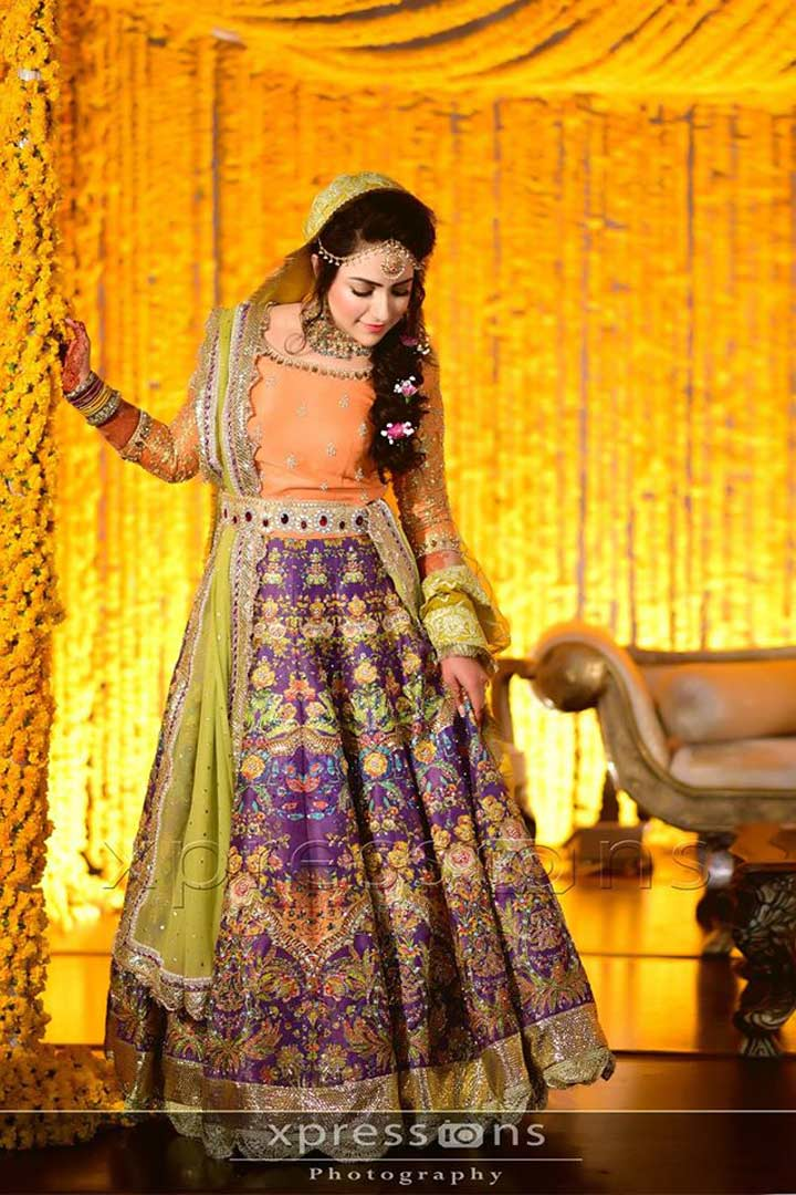 Mehndi dresses yellow colour names