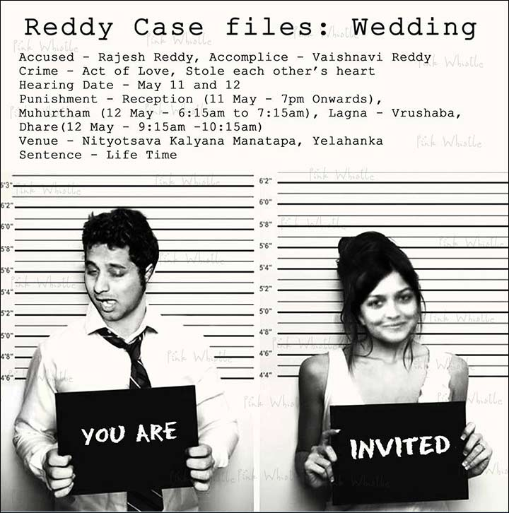 Funny wedding invitation ideas 17 invites thatll leave the guests mugshot invitation filmwisefo