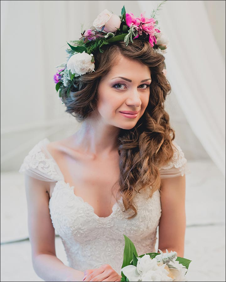 Perfectly-Messy-for-curly-bridal-hair-styles