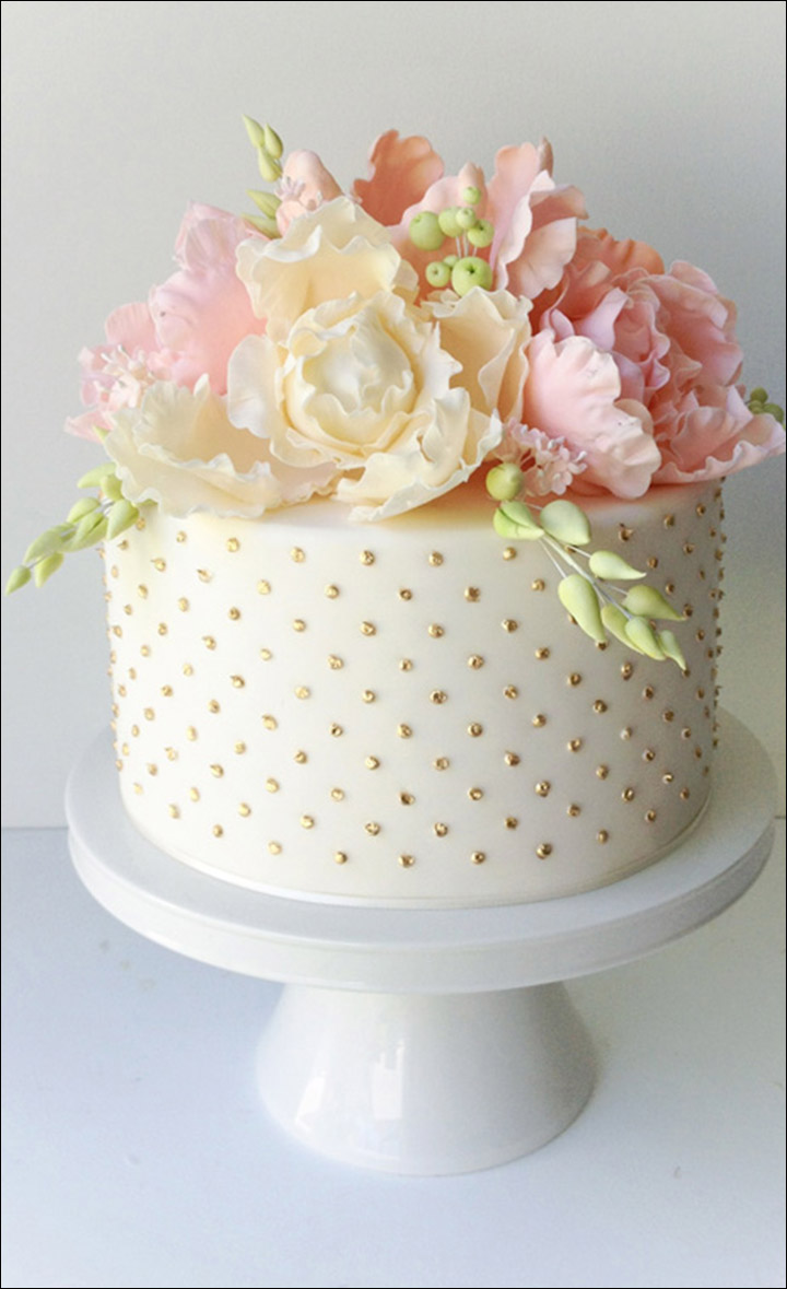 Simple Wedding Cakes - The Classic Polka Dot Cake