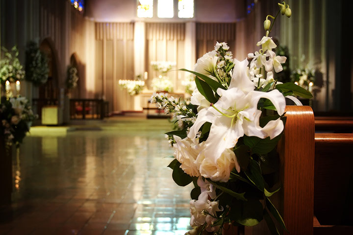 Pretty-Pews-at-church-wedding