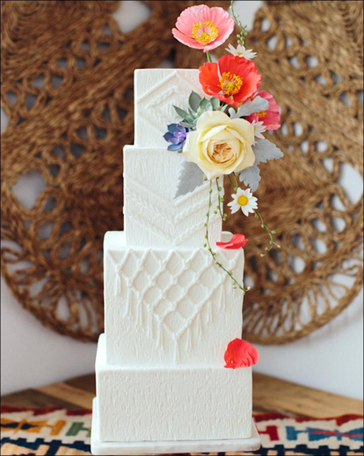 Square Wedding Cakes - A Texture Cake