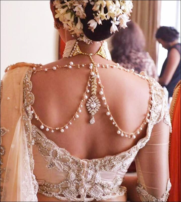 Blouse Back Neck Designs - Bejeweled Back Neck Design