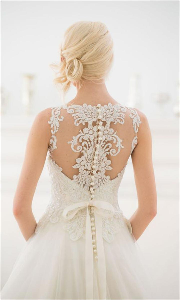 10 western wedding dresses to get the best bridal look ever for Wedding dress illusion back