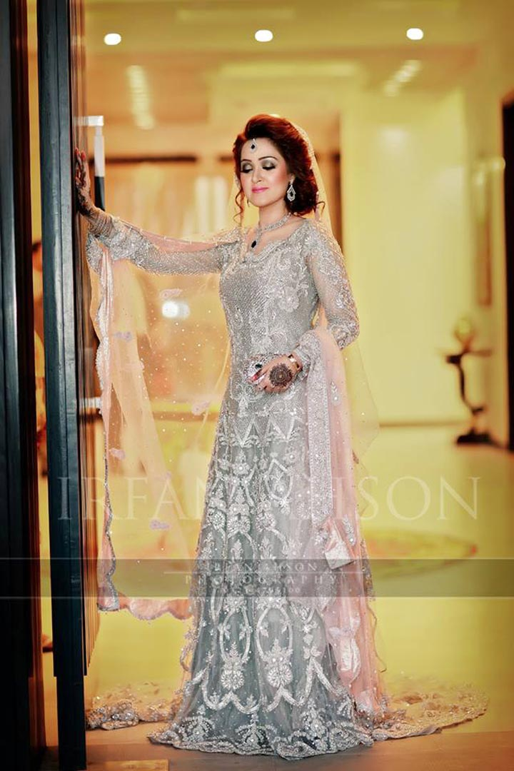 pakistan bridal dress pale pink dupatta