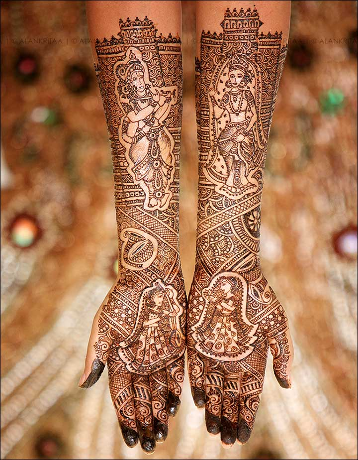 10 radha krishna mehndi design themes you ll fall in love with