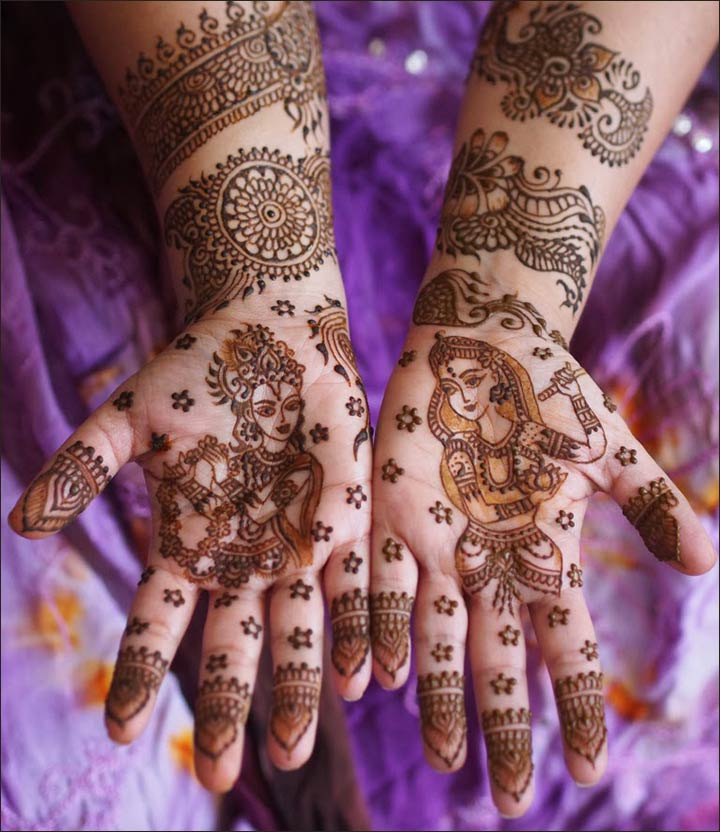10 radha krishna mehndi design themes you 39 ll fall in love with The designlover