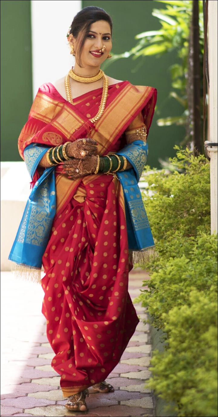 10 Gorgeous Maharashtrian Bridal Sarees That Are In Vogue