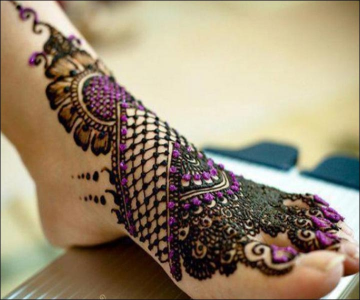 Shaded Mehndi Designs - A Hint Of Colour