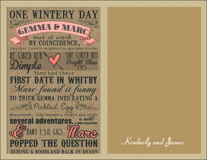 Informal Wedding Invitation Wordings - And The Story Begins