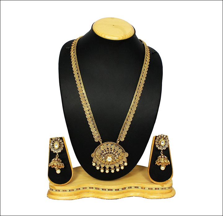 South Indian Bridal Jewellery Sets - Antique Traditional Heavy Necklace Set
