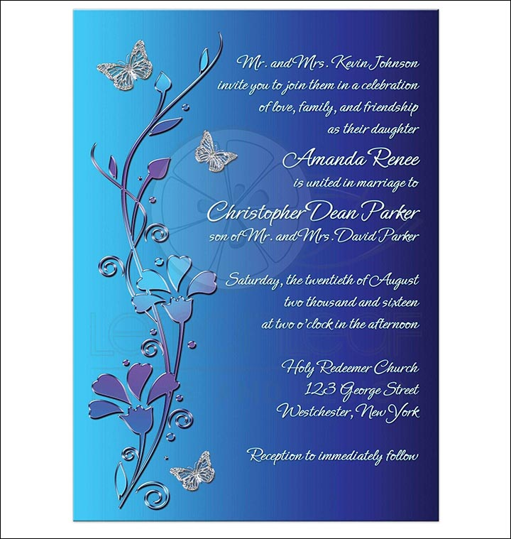 10 Cute Butterfly Wedding Invitations Whats Your Favourite – Butterfly Wedding Invite