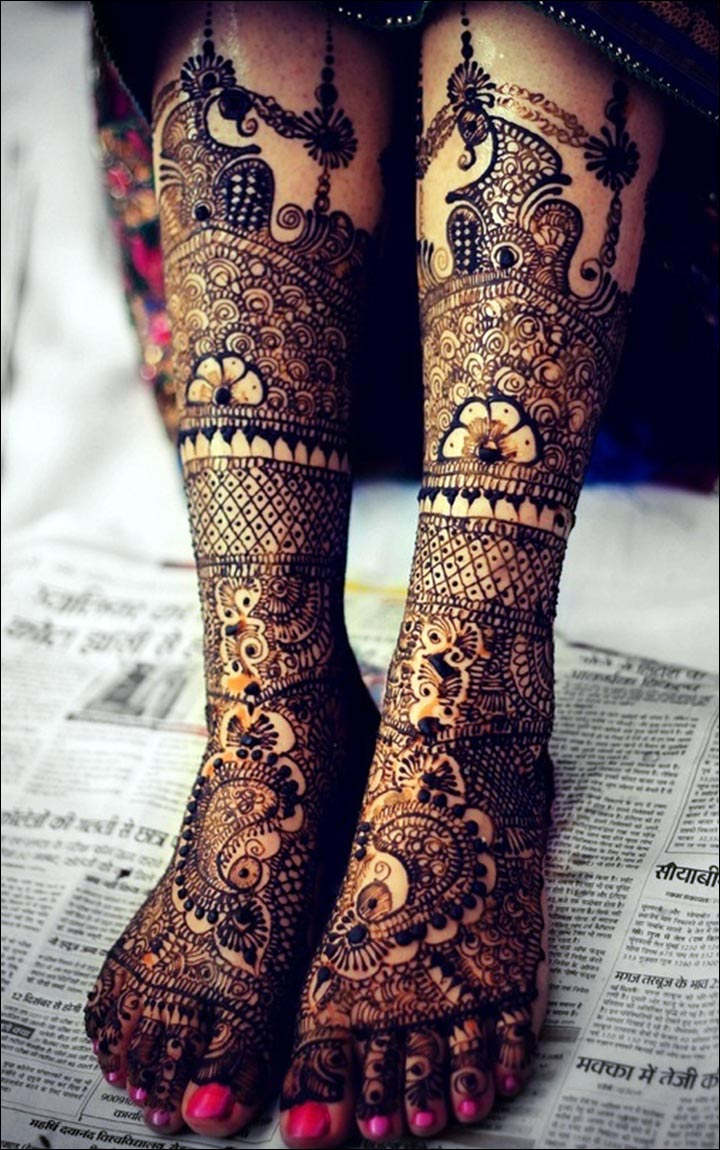 Marathi Mehndi Design - Bridal Design For The Feet