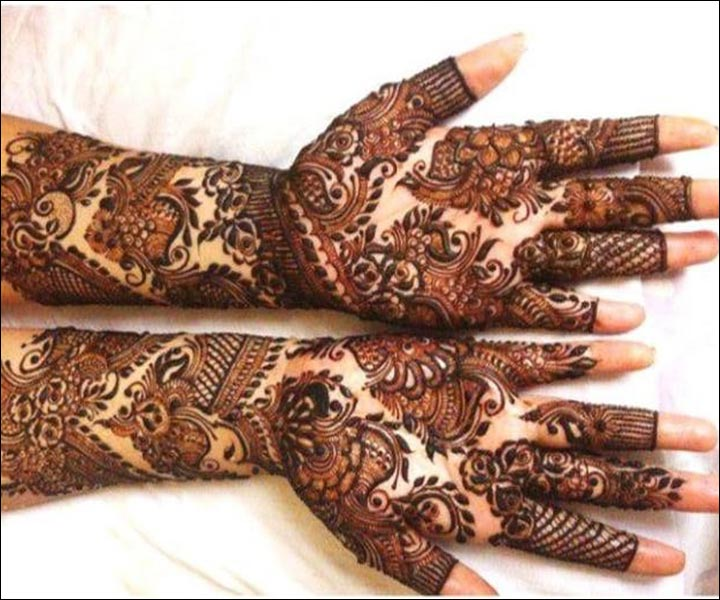 Shaded Mehndi Designs - Bridal Shaded Mehndi Design