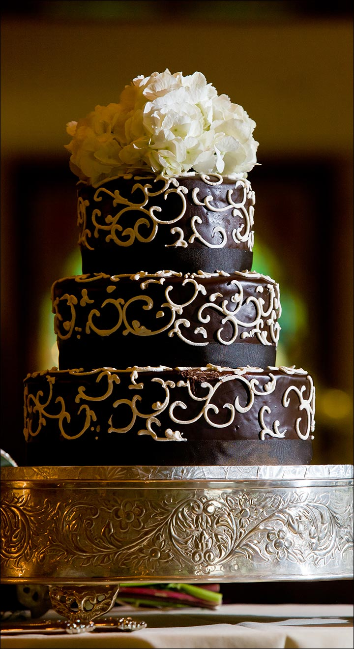 Chocolate With Frosting wedding cake