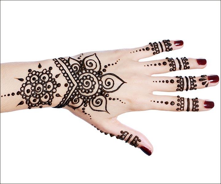 Mehndi Designs For Fingers - Circular Pattern Design