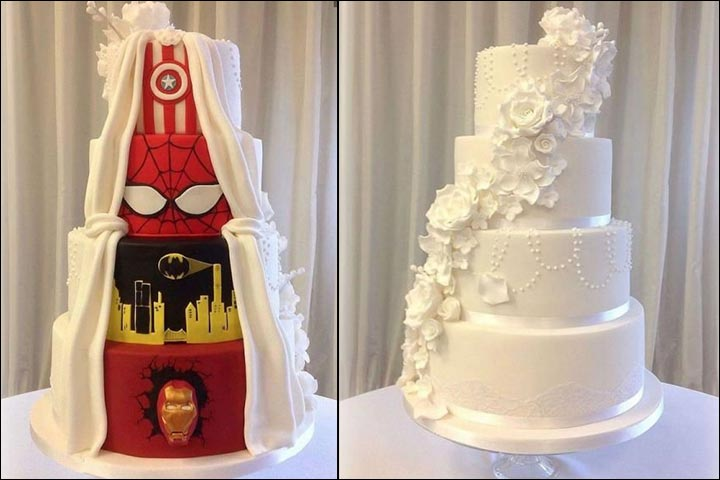 Comic Craze wedding cake