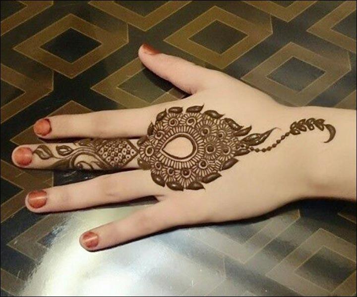 Karva Chauth Mehndi Designs Contemporary Back Of Hand Mehndi Design