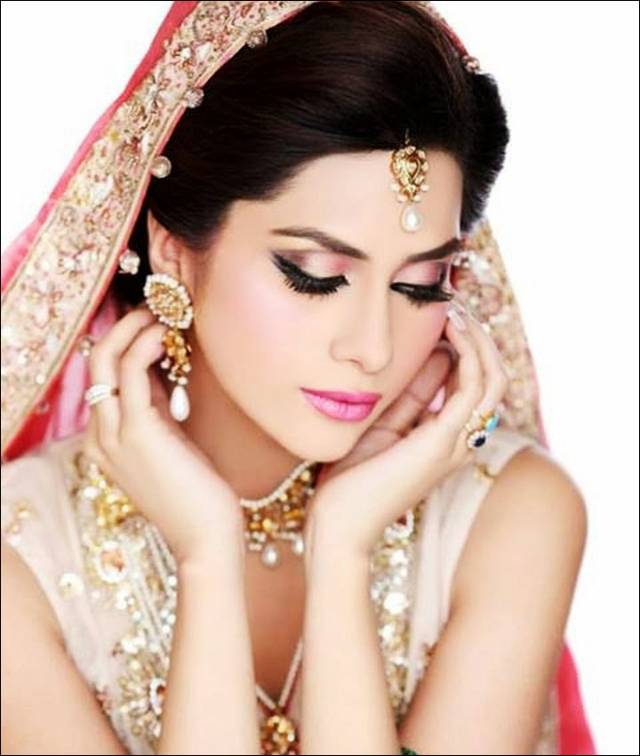 Bridal Makeup Looks - Coral Chic