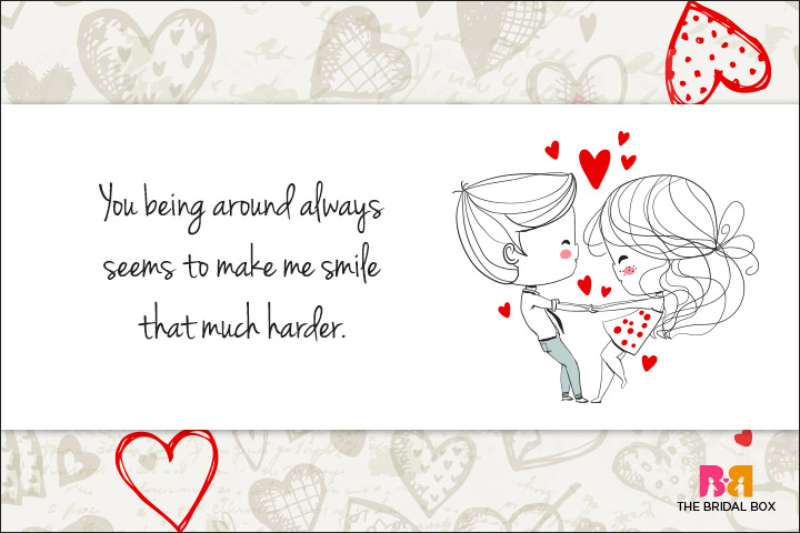 Cute Love Quotes For Her - You Make Me Smile
