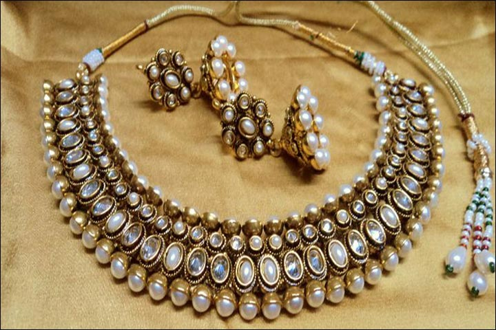 Bridal Imitation Jewellery - Designer Polki Choker Set