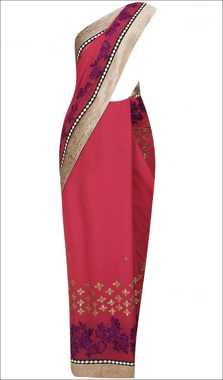 Bridal Reception Sarees - Floral And Booti Saree