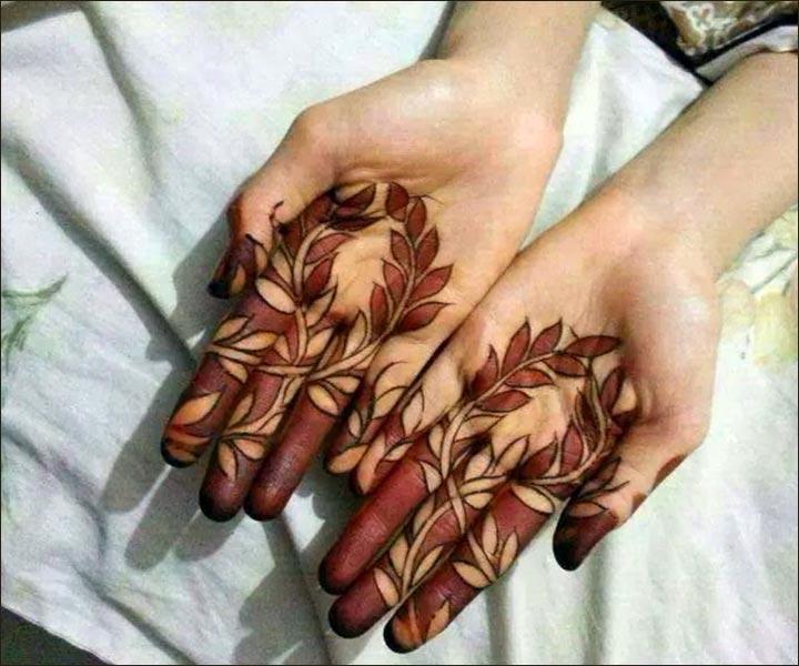 Mehndi Designs For Fingers - Foliage Design