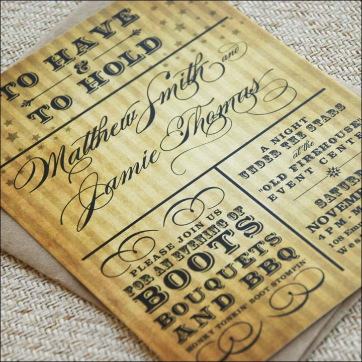 Informal Wedding Invitation Wordings - Front Loading The Romance