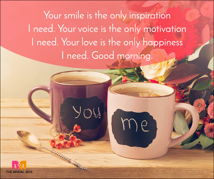 Good Morning Love Quotes - Your Voice