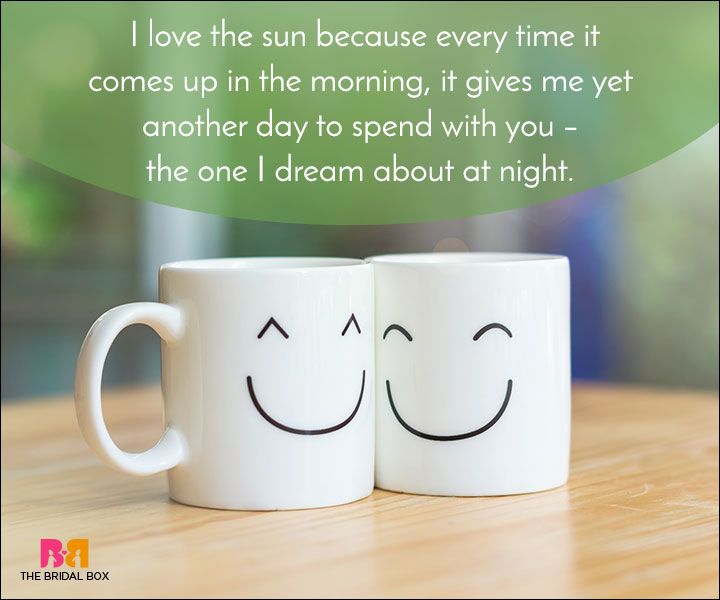 Good Morning Love Quotes - I Love The Sun